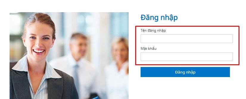 Giao diện đăng nhập